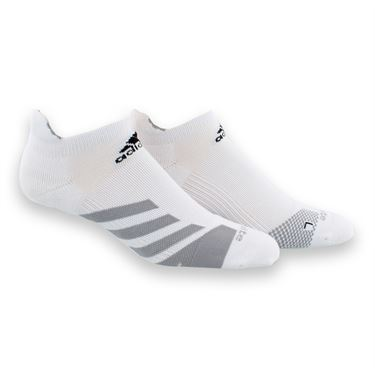 adidas Tennis Traxion No Show Sock - White/Light Onix/Black