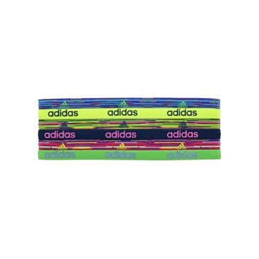 adidas Fighter Graphic Hairbands 6 Pack - Ray Blue/Shock Slime