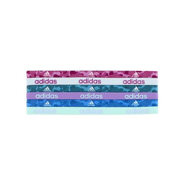 adidas Fighter Graphic Hairbands 6 Pack - Bold Aqua/Ice Blue