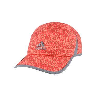 adidas Womens adiZero Extra Hat - Shock Red/Sun Glow