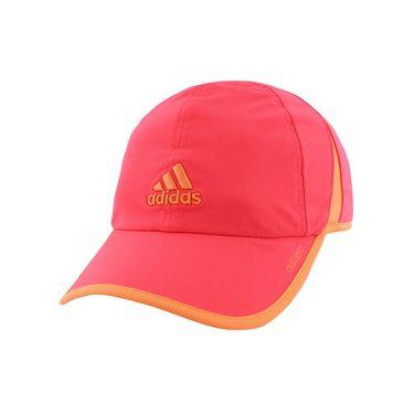 adidas Womens adiZero II Hat - Shock Red/Sun Glow