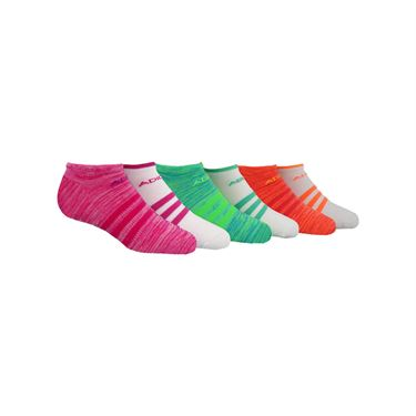 adidas Girls Superlite No Show Sock (6 Pack) - Shock Pink
