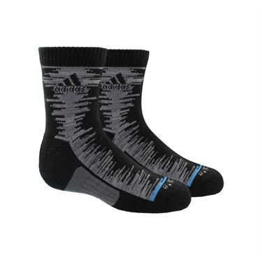 adidas Junior Frequency Quarter Sock (2 Pack) - Black/Onix Grey Space Dye