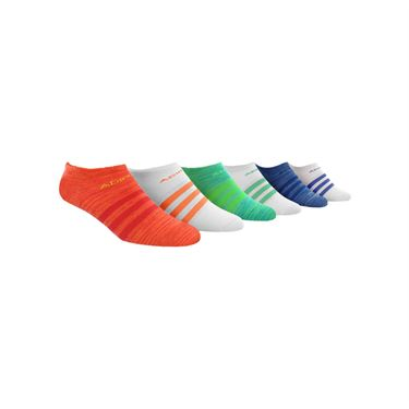 adidas Superlite No Show Sock (6 Pack) - Shock Red