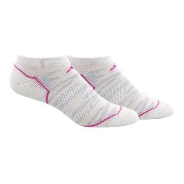 adidas Superlite Prime Mesh Womens No Show Sock (2 pack) - White/Mono Pink