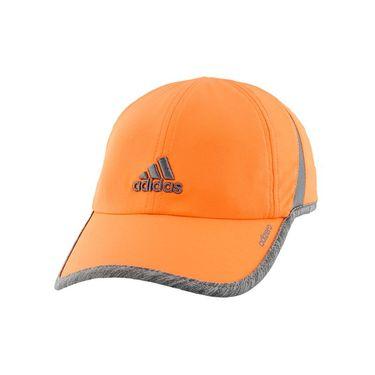adidas Womens adiZero Hat II - Glow Orange/Light Heather Grey