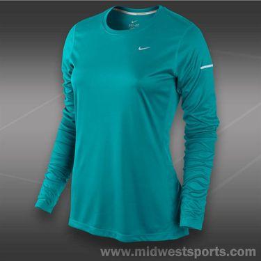 Nike Long Sleeve Miler Top-Turbo Green