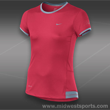 Nike Girls Miler Top-Fusion Red