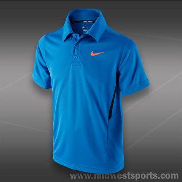 Nike Boys NET UV Polo-Photo Blue
