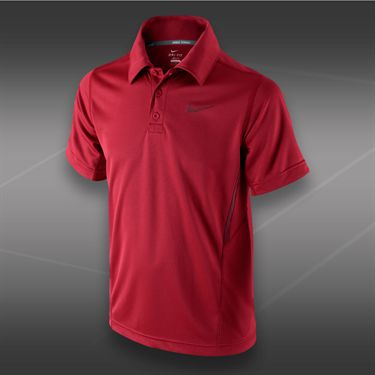 Nike Boys NET UV Polo-Gym Red