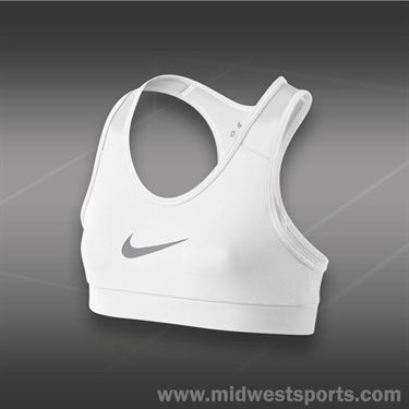 Nike Girls Pro YA Hypercool Bra-White