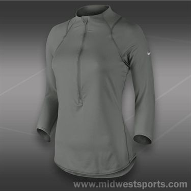 Nike Baseline 1/2 Zip Top-Medium Base Grey