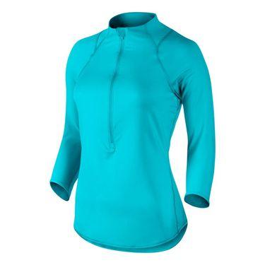 Nike Baseline 1/2 Zip Top - Omega Blue