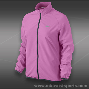 Nike Woven Full Zip Jacket-Red Violet