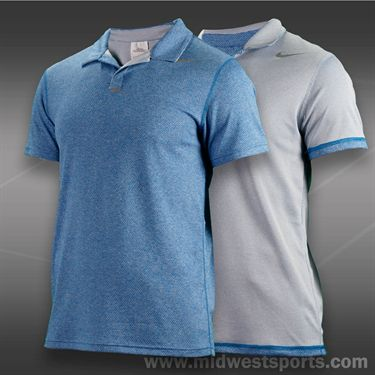 Nike Reversible Polo- Military Blue Htr/Cool Grey