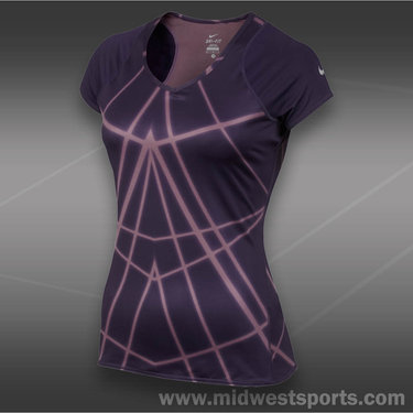 Nike Printed Knit Top-Purple Dynasty