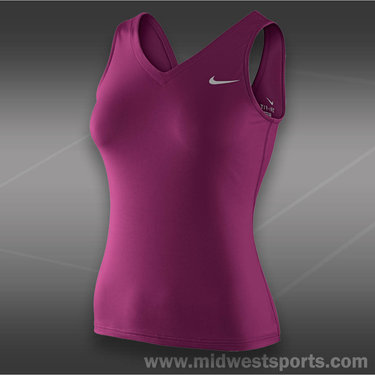 Nike V-Back Tank-Raspberry Red