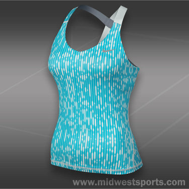 Nike Printed Knit Tank-Gamma Blue
