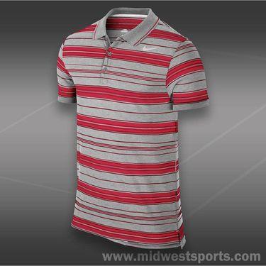 Nike Vapor Touch Stripe Polo-Dusty Grey