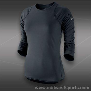 Nike Baseline 3/4 Sleeve Top-Black