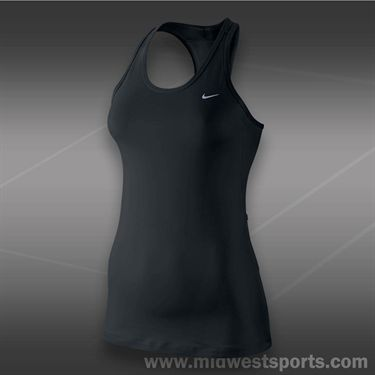 Nike Solid Long Distance Tank-Black