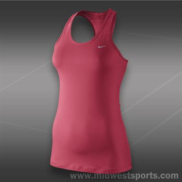 Nike Solid Long Distance Tank-Geranium