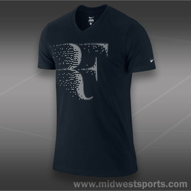 Nike RF V-Neck T-Shirt-Black