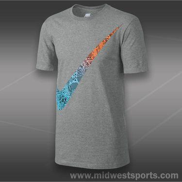 Nike Oversized Swoosh T-Shirt-Dark Grey