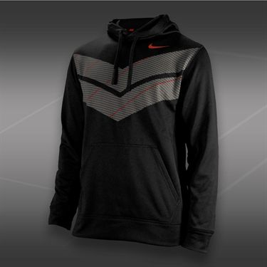 Nike Knock Out Double Chevron Hoody-Black