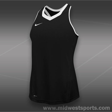 Nike Womens Team Cutback Racerback Jersey-Black