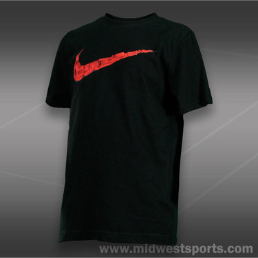 Nike Boys Swoosh Image Collage Tee-Black