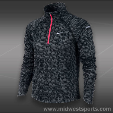 Nike  Girls Element 1/2 Zip-Black
