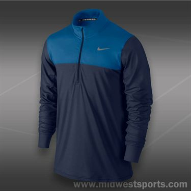 Nike 1/2 Zip Long Sleeve Top -Midnight Navy