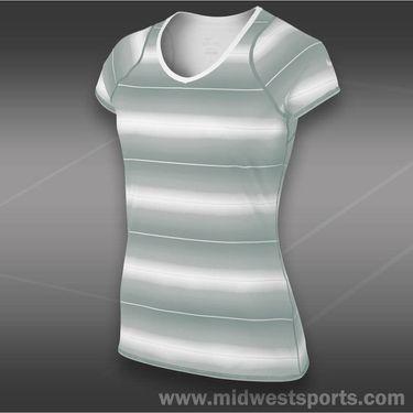 Nike Advantage Printed Top-Lt. Base Grey