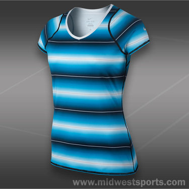 Nike Advantage Printed Top-Vivid Blue