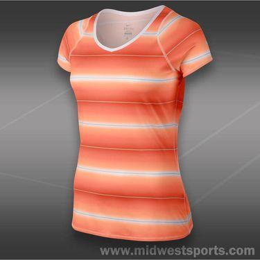 Nike Advantage Printed Top-Atomic Orange
