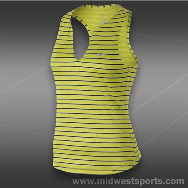 Nike Stripe Pure Tank-Venom Green