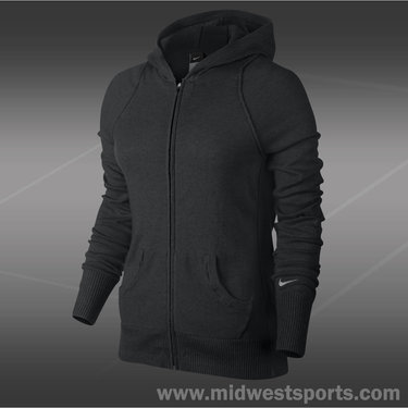 Nike Knit Sweater Jacket-Black Heather