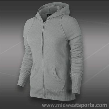 Nike Knit Sweater Jacket-Dk Grey Heather