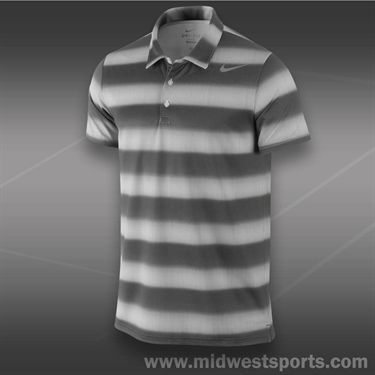 Nike Rally Sphere Stripe Polo- Black