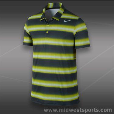 Nike Rally Sphere Stripe Polo- Venom Green