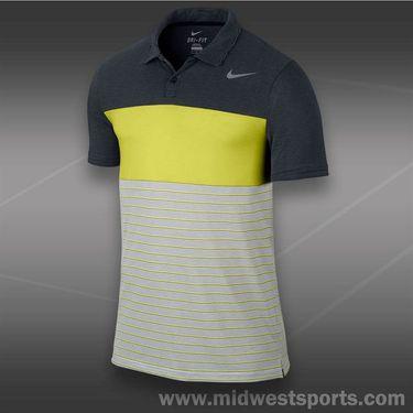 Nike Dri Fit Touch Stripe Polo- Black