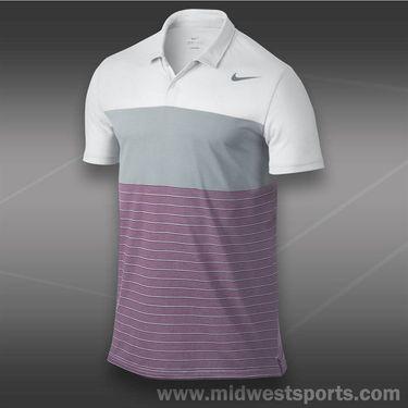 Nike Dri Fit Touch Stripe Polo- White