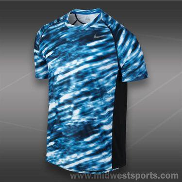 Nike Advantage UV GFX Crew- Military Blue