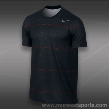 Nike Rally Sphere Stripe Crew- Black