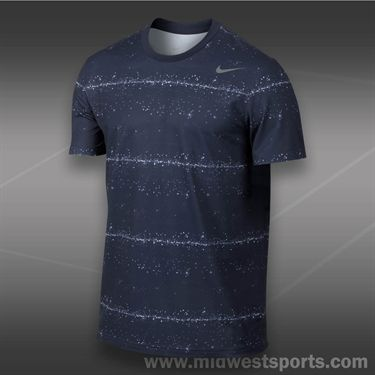 Nike Rally Sphere Stripe Crew- Midnight Navy