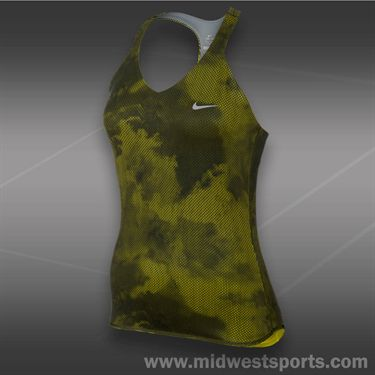 Nike Advantage Printed Tank- Venom Green