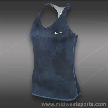 Nike Advantage Printed Tank-New Slate