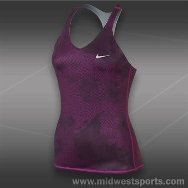 Nike Advantage Printed Tank-Bright Grape