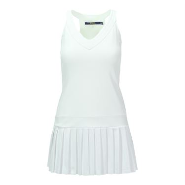 Polo Ralph Lauren Elite Wicking Jersey Dress -Pure White